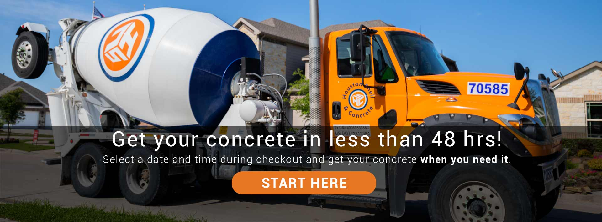 Get your concrete in less than 48 hrs